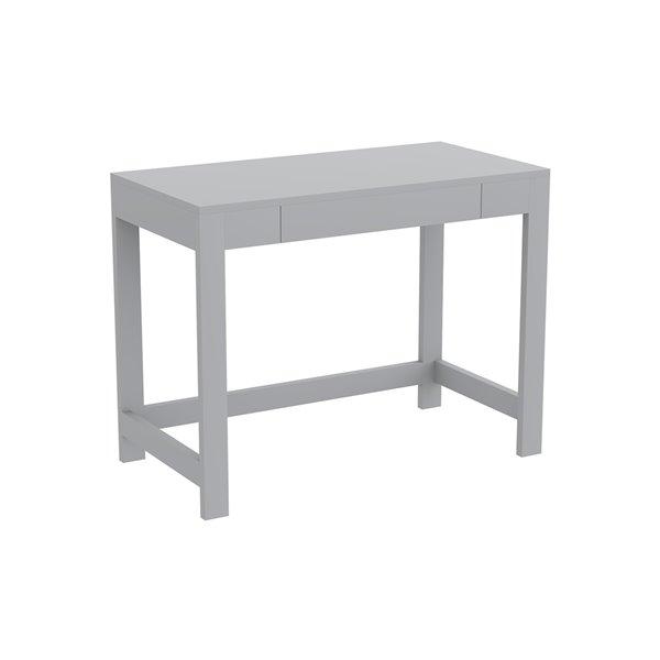 Safdie & Co. Computer Desk - 1 Shelf - 30-in x 39-in - Light Grey