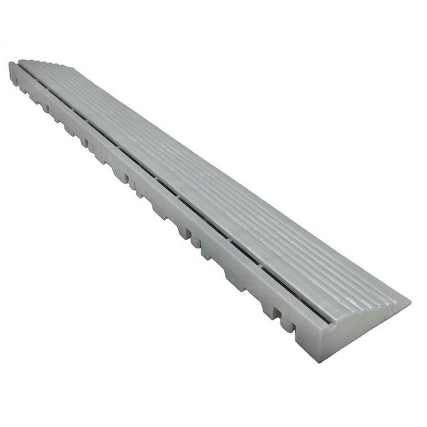 Bordure mâle pour plancher de garage CarTrax, 2,5 po x 15,75 po, perle argentée, pqt. de 6