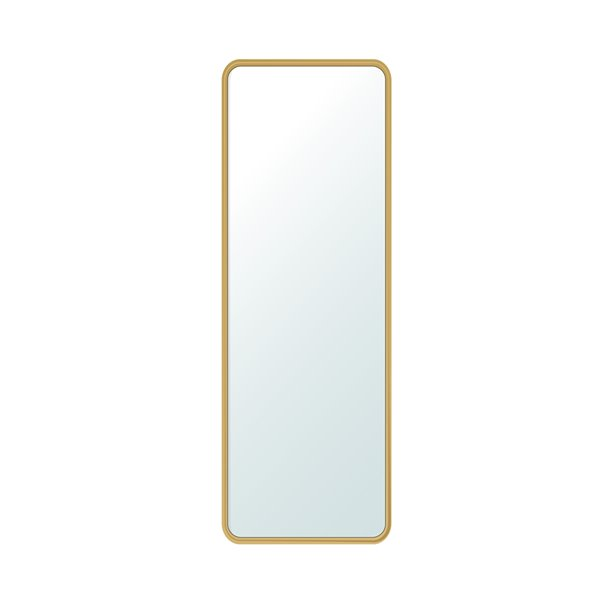 Miroir décoratif rectangulaire Mia de Jade Bath, 78,74 po x 27,55 po, or brossé