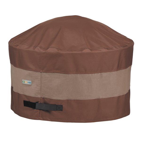 Housse de foyer de jardin rond Ultimate de Duck Covers, 44 po, brun
