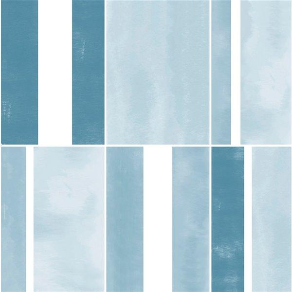 FloorPops Azure Adhesive Floor Tiles - 12-in x 12-in
