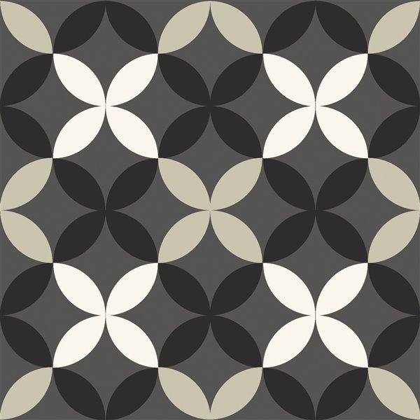 FloorPops Arbor Adhesive Floor Tiles - 12-in x 12-in