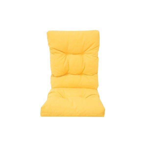 Bozanto Inc. High Back Patio Chair Cushion - Light Yellow