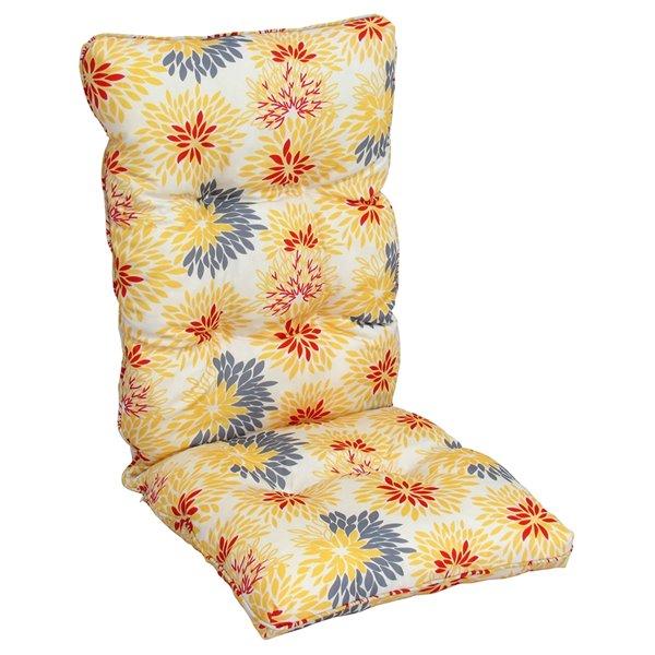 Bozanto Inc. High Back Patio Chair Cushion - Orange and White
