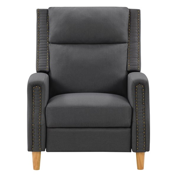CorLiving Lynwood Contemporary/Modern Synthetic Soft Fabric Recliner - Dark Grey