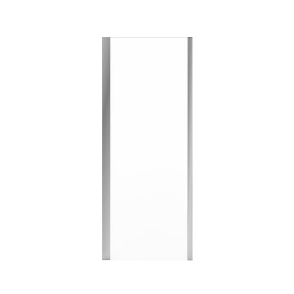 MAAX UpTown Semi-frameless Fixed Return Panel - 76-in x 30.13-in to 30.88-in - Chrome