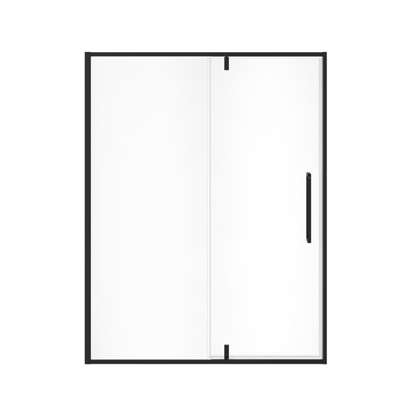 MAAX UpTown Semi-frameless Pivot Shower Door - 76-in x 57-in to 59-in - Matte Black
