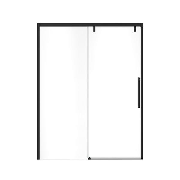 MAAX UpTown Semi-frameless Sliding Shower Door - 76-in x 56-in to 59-in - Matte Black