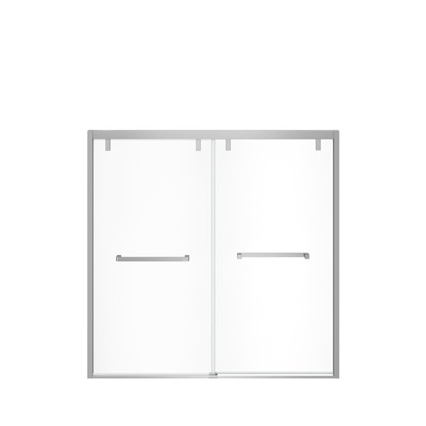 MAAX UpTown Semi-frameless Bypass/Sliding Bathtub Door - 58-in x 56-in to 59-in - Chrome