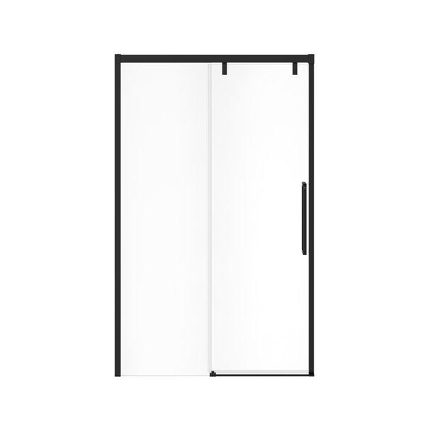 MAAX UpTown Semi-frameless Sliding Shower Door - 76-in x 44-in to 47-in - Matte Black