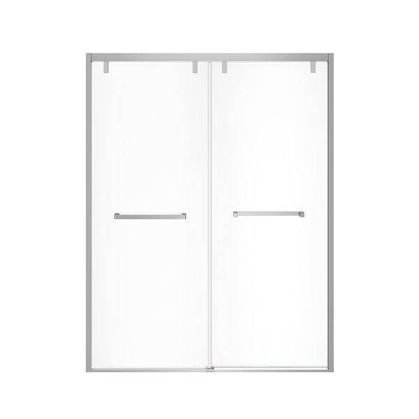 MAAX UpTown Semi-frameless Sliding Shower Door - 76-in x 56-in to 59-in - Chrome