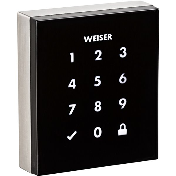 Serrure à écran tactile résidentiel Obsidian de Weiser, nickel