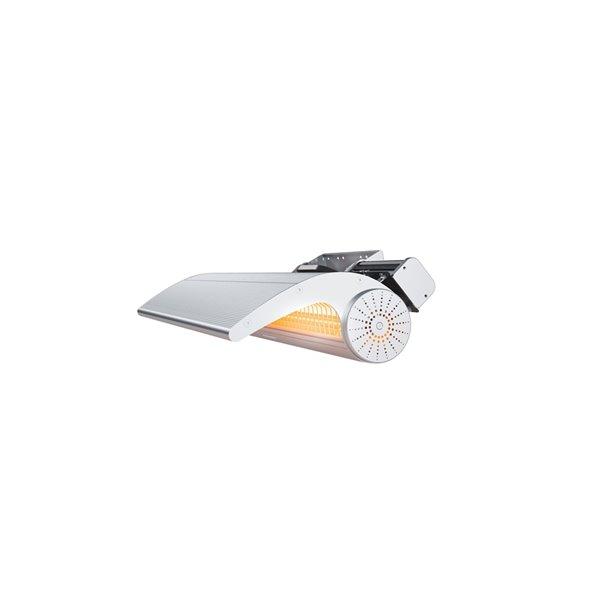 Chaufferette infrarouge électrique d'extérieur en aluminium de Dimplex, 6824BTU, 240 V, argent