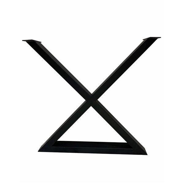 Patte de table contemporaine en X de Corcoran, 3 po x 22 po, noire