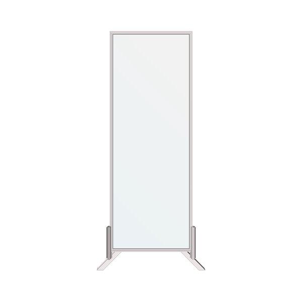 Écran pare-toux autoportant par Dusco, grand, transparent/blanc