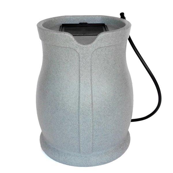 Citerne pluviale gris en plastique de 45gal. par FCMP Outdoor, robinets inclus