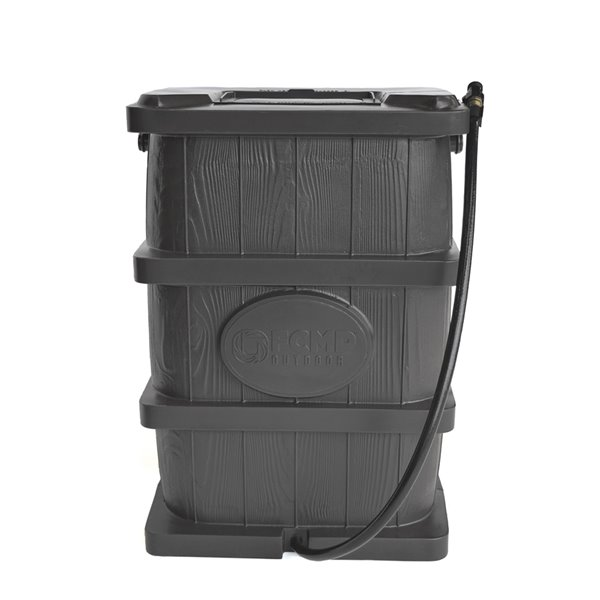 Citerne pluviale gris en plastique par FCMP Outdoor, robinets inclus, 45gal.
