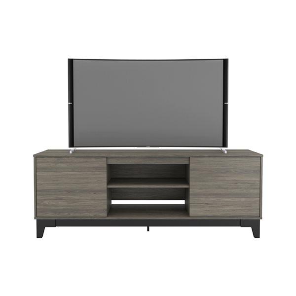 Meuble pour téléviseur jusqu'à 80 po Rhapsody de Nexera, gris écorce/noir