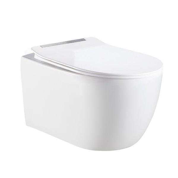 Jade Bath Designer Series White Dual Flush Elongated Standard Height Wall-Hung Toilet