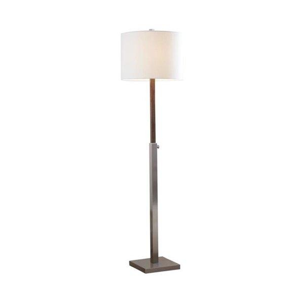 Scott Living 60-in Brushed Nickel Standard Floor Lamp