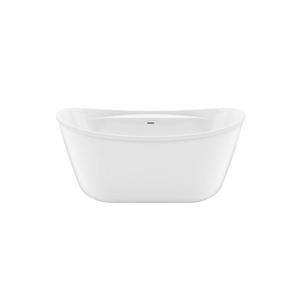 Maax Suna 32-in W X 58-in L White Acrylic Rectangular Center Drain Freestanding Bathtub