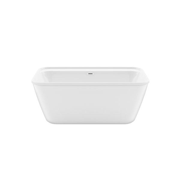 Maax Kai 32-in W X 58-in L White Acrylic Rectangular Center Drain Freestanding Bathtub