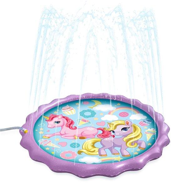 Splash Buddies 1-Pack 15-sq Ft. Unicorn Mat Lawn Sprinkler