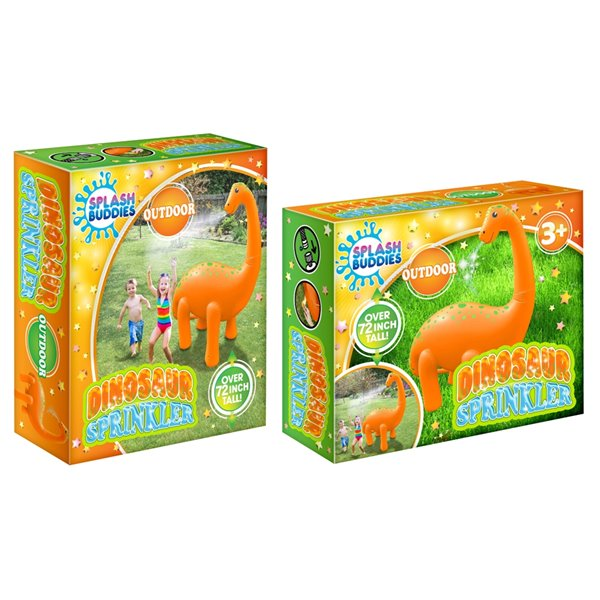 Splash Buddies 1-Pack 15-sq Ft. Dino Lawn Sprinkler