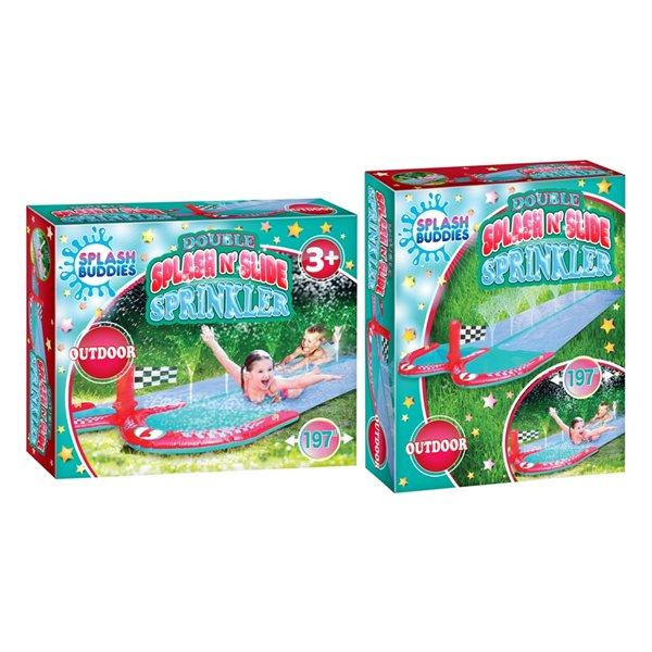 Splash Buddies 1-Pack 15-sq Ft. Slide Lawn Sprinkler