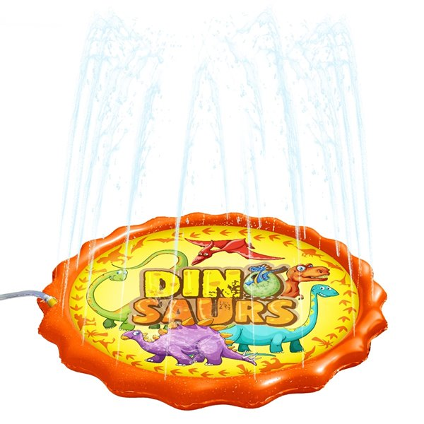 Splash Buddies 1-Pack 15-sq Ft. Dino Mat Lawn Sprinkler