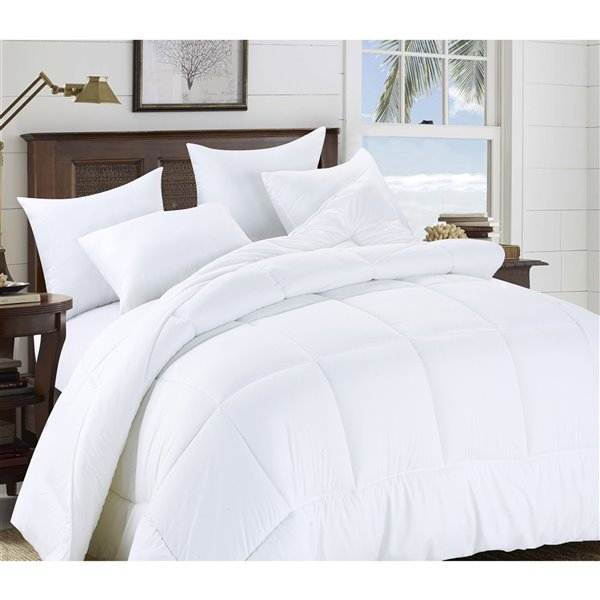 Swift Home White Solid Twin Comforter (Polyester with Polyester Fill)