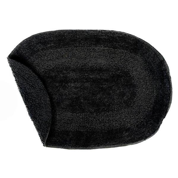 IH Casa Decor Reversible Black Oval 16-in x 24-in Cotton Bath Mats - Set of 2