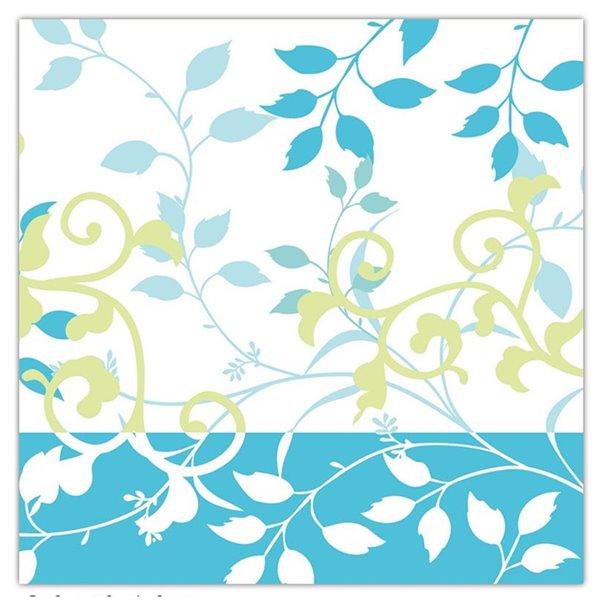 IH CASADECOR 20 Pack Luncheon 3 Ply Napkin (teal Floral) - Set of 6