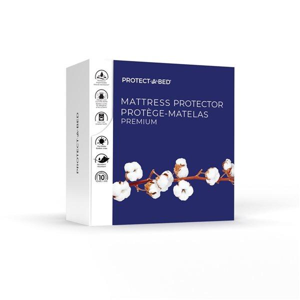 Couvre-matelas en tissu éponge pour lit simple Premium de Protect-A-Bed, 22po p.