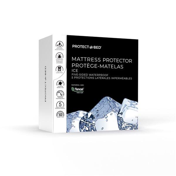 Couvre-matelas en polyester pour très grand lit TS Ice de Protect-A-Bed, 22po p.