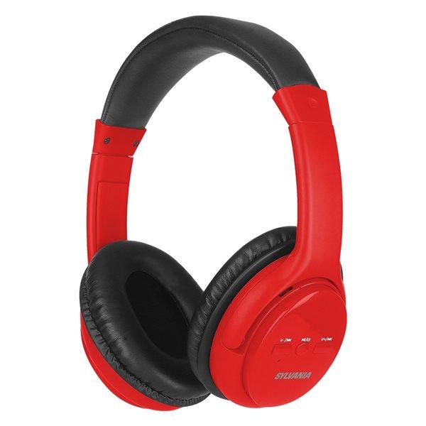 Écouteurs supra-auriculaires rouges par SYLVANIA