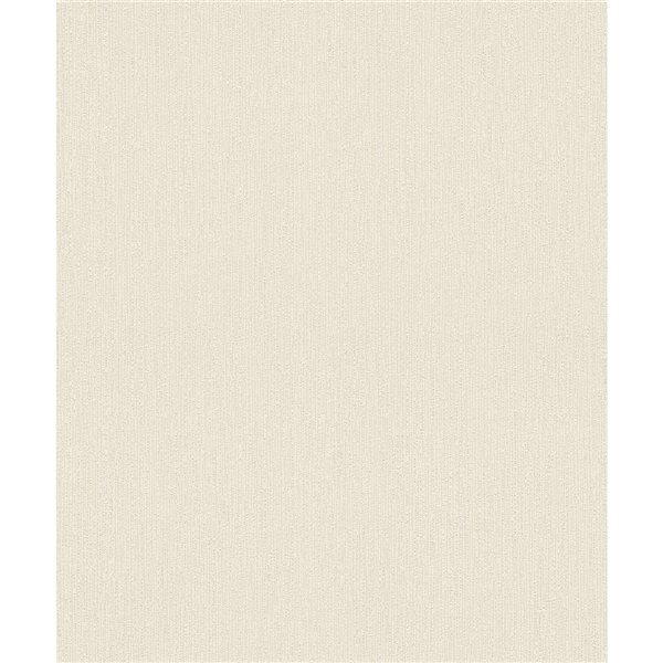 Papier peint en vinyle non encollé texturé Murni par Advantage couvrant 57,8 pi², crème