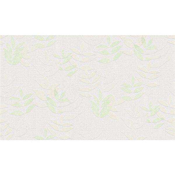 Papier peint en vinyle non encollé avec motif de feuilles Napali par Advantage couvrant 57,8 pi², vert pâle