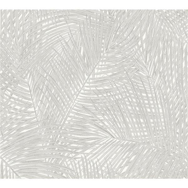 Papier peint en vinyle non encollé vert Raina par Advantage couvrant 57,8 pi²
