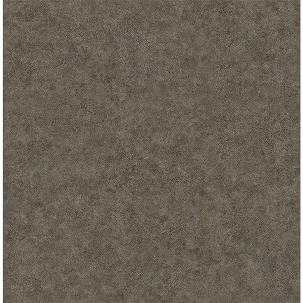 Papier peint non tissé et non encollé texturé Cielo par Fine Decor couvrant 56,4 pi², brun