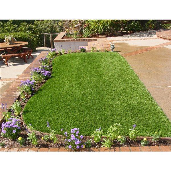 Tapis d'herbe artificielle cynodon Spring de Green As Grass, 25 pi x 15 pi