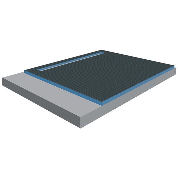 Bac de douche gris foncé Tooltech Xpert en mousse