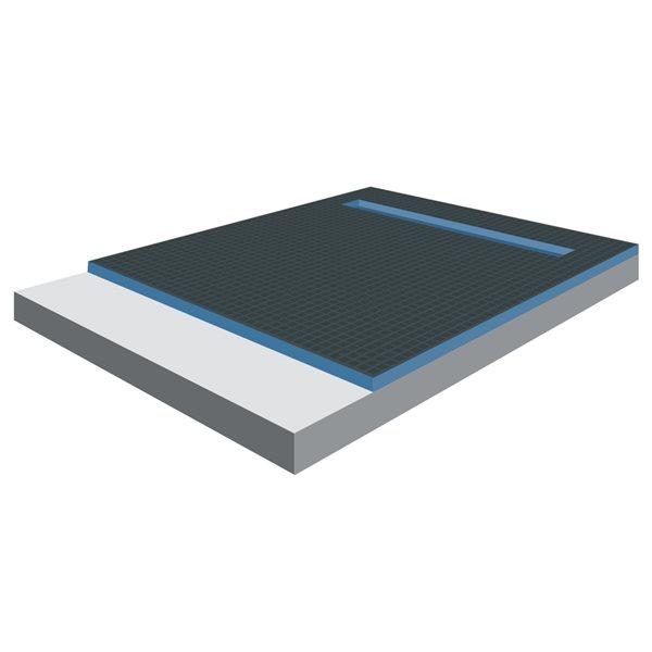 Bac de douche Tooltech Xpert gris argenté en mousse
