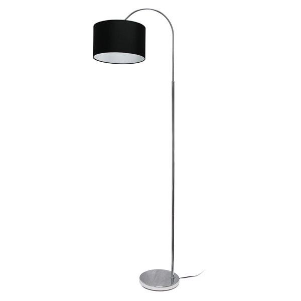 Lampe sur pied standard par Simple Designs noire de 66 po
