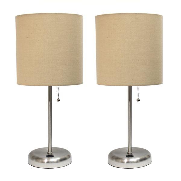 Ensemble 2 lampes standards par LimeLights avec abat-jour brun