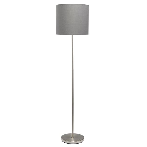 Lampe sur pied standard par Simple Designs grise de 58 po