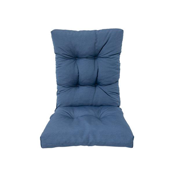 Coussin bleu Bozanto Inc. pour chaise de patio à dossier haut