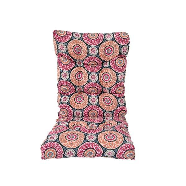 Coussin Bozanto Inc. pour chaise de patio à dossier haut, rose