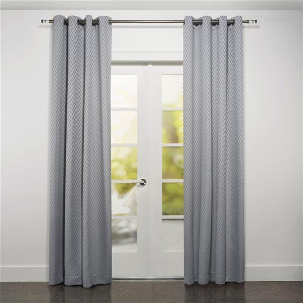 Panneau de rideau filtrant simple Kimono par Starlite gris de 95 po en polyester