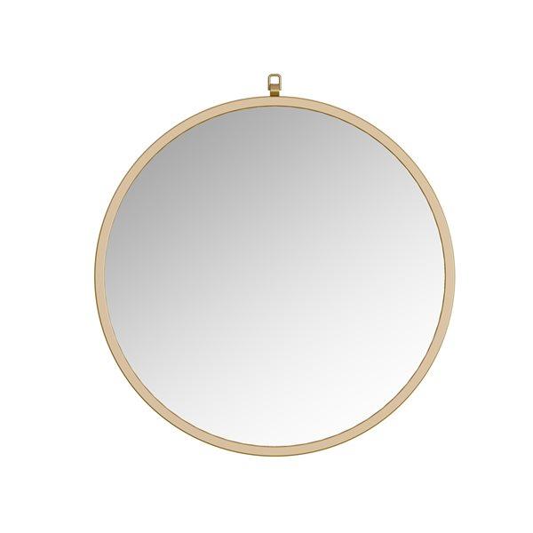 Miroir Haylo circulaire de 28po pour salle de bains par A&E Bath and Shower, doré